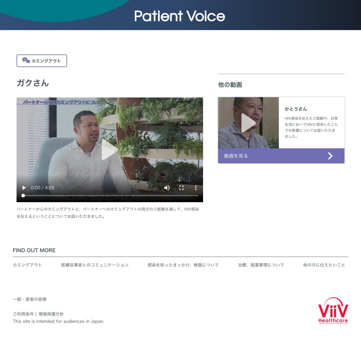 ViiV Patient Voice